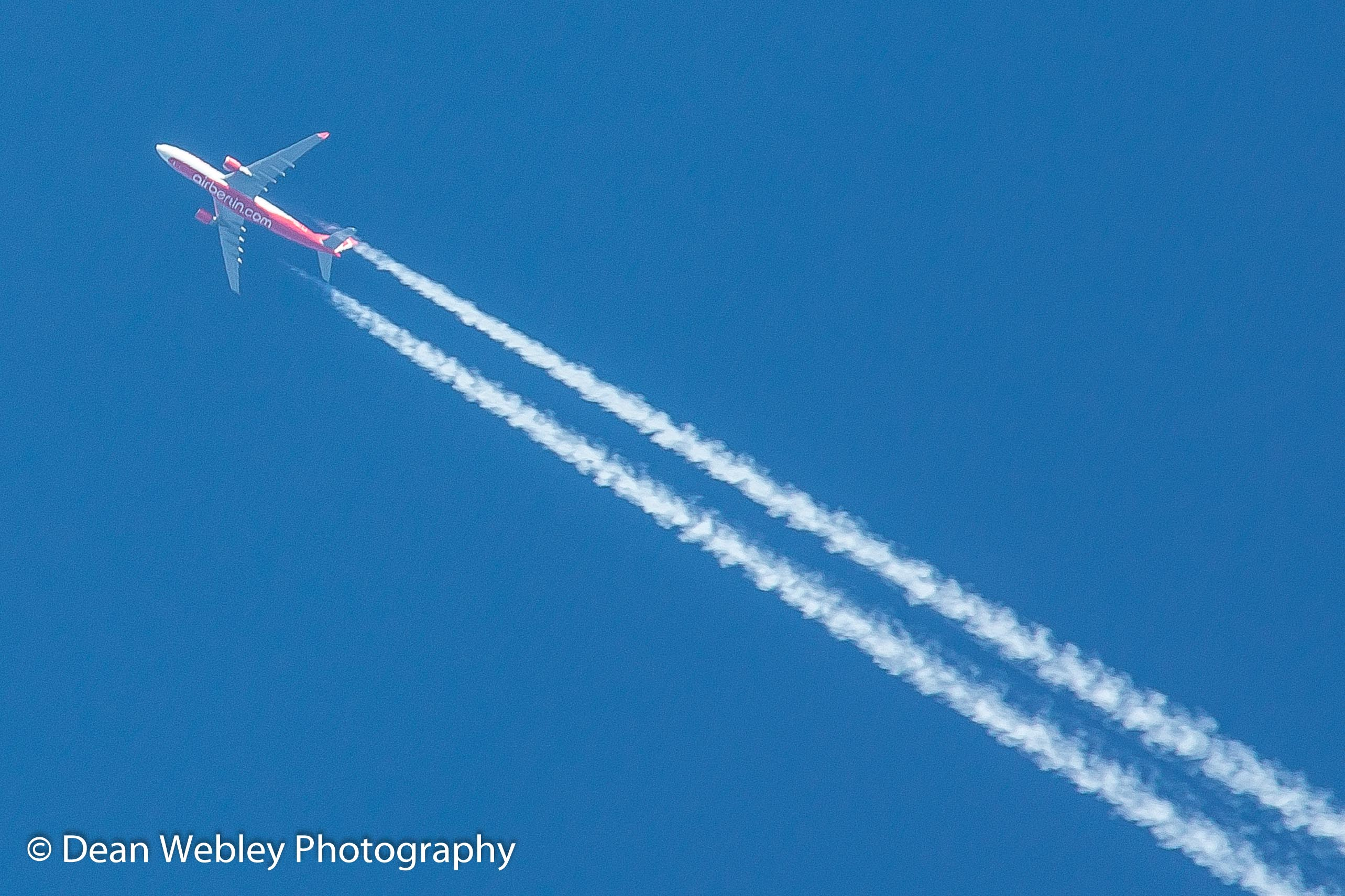 Air Berlin areoplane in the sky